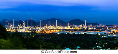 Oil refinery in the valley.