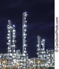 oil refinery plant and pipe line