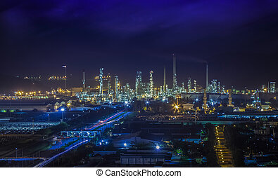 oil refinery industry - Landscape of oil refinery industry...