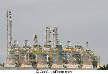 Oil refinery (Map Ta Phut Industrial Estate Rayong Thailand)...