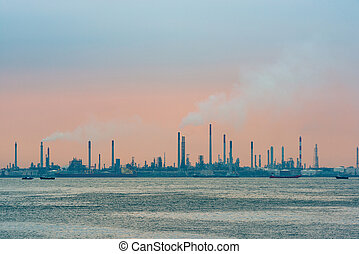Oil refinery on Bukom Island in Singapore