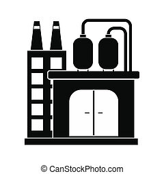 Oil refinery or chemical plant icon