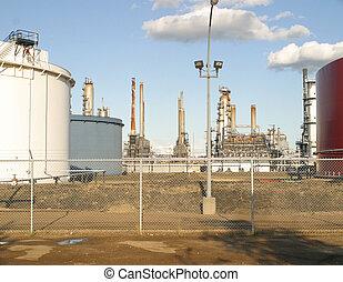 oil refinery - An oil refinery in Edmonton,Alberta,Canada.