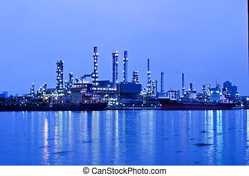 oil refinery, průmyslový nechat na holičkách