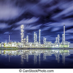 Oil refinery factory for chamical and power energy...