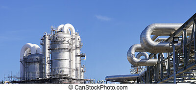 oil refinery at the Maasvlakte, the Rotterdam harbor area