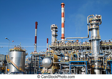 Oil refinery closeup - industrial shot