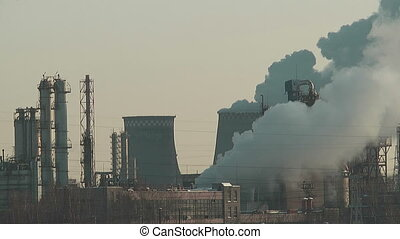 Oil refining factory in Moscow , Russia