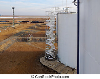 Oil reservoir Stairs.