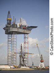 Oil rig 4 - An oil rig under construction