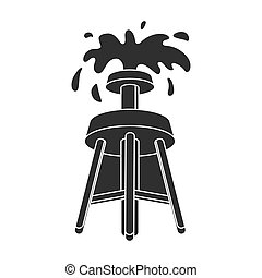 Oil rig icon in black style isolated on white background. Arab Emirates symbol stock vector illustration.