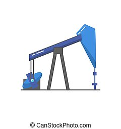 Oil rig icon in flat style