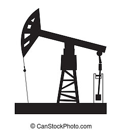 Oil rig - Illustration of oil rig