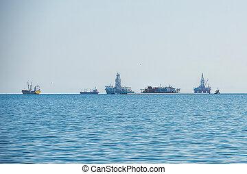 oil rig in Namibia
