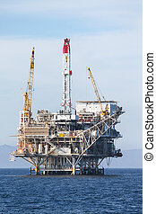 Oil Rig in the chanel island near Ventura California.