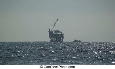 Oil Rig Off California Coast - Oil Rig off California coast.