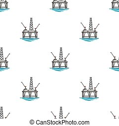 Oil rig on the water. Oil single icon in cartoon style vector symbol stock illustration web.