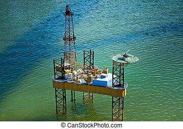 "Oil rig in park ""Italia in miniatura"""