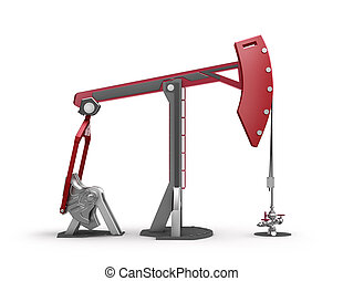 Oil Rig : Pump jack isolated on