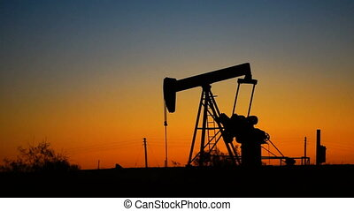 Oil Rig Pumpjack Working Natural Resource Energy Production...