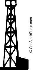 Oil Rig. Vector