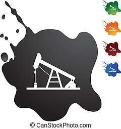 Oil Rig web button isolated on a background.