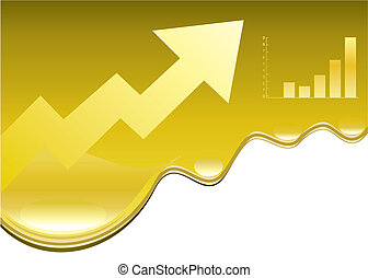 Oil rising - Vector illustration of oil Price rising design.