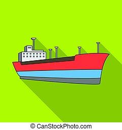 Oil ship. Oil single icon in flat style vector symbol stock illustration web.