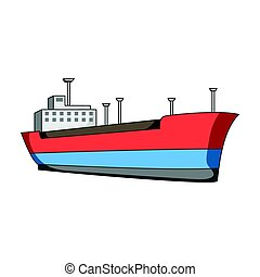 Oil ship.Oil single icon in cartoon style vector symbol...