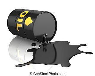 oil spill 3d illustration