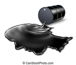 Oil Spill Health Risk - Oil spill health risk concept as a...