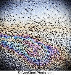 Oil spill on road - Oil spill on asphalt road