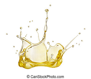 Oil splash on white background
