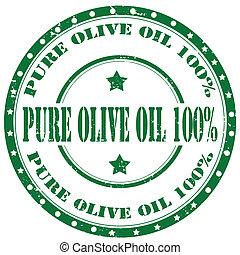 oil-stamp, ren, oliv