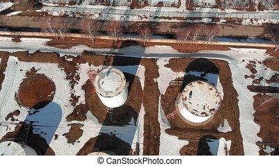 oil storage base, aerial survey - oil storage base, aerial...