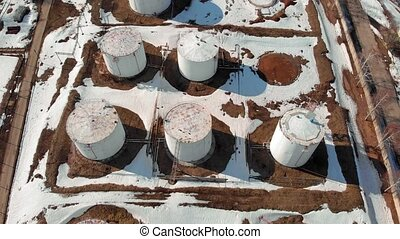 oil storage base, aerial survey - oil storage base, aerial...