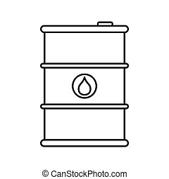 Oil storage icon, outline style