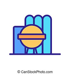 Oil storage icon vector. Isolated contour symbol illustration