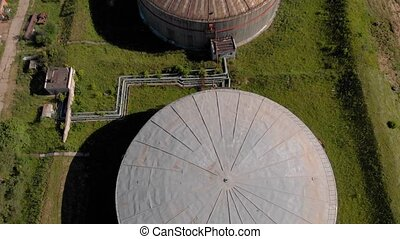 Oil storage summer aerial survey - Aerial flight over Oil...