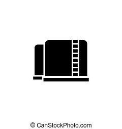 Oil Storage Tank Flat Vector Icon