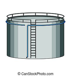 Oil storage tank. Oil single icon in cartoon style vector symbol stock illustration web.