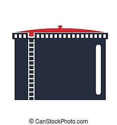 Oil storage tank .Oil single icon in flat style vector symbol stock illustration web.