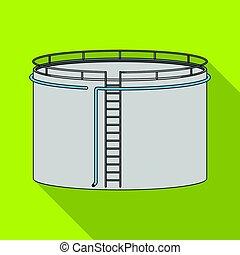 Oil storage tank. Oil single icon in flat style vector symbol stock illustration web.