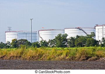 Oil storage tanks in Thailand