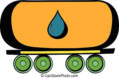 Oil tank icon, icon cartoon