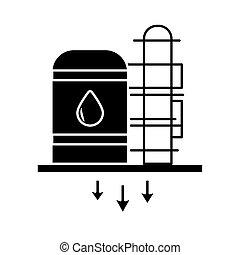 oil tank refinery flat style icon