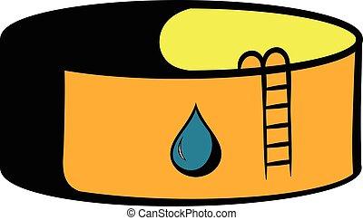 Oil tank storage icon, icon cartoon