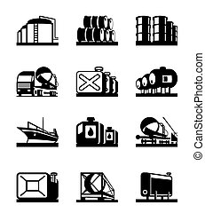 Oil tank terminals - vector illustration
