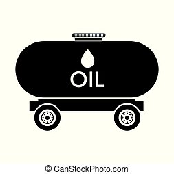 oil tank truck icon vector illustration design