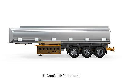 Oil Tank Truck Isolated - Oil Tank Truck isolated on white...